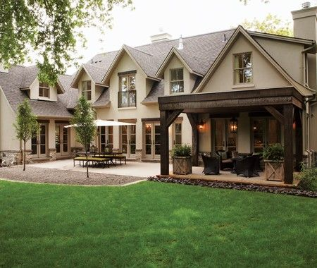 I love the design of the back of this home.