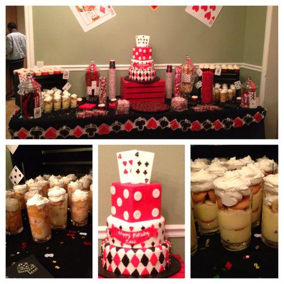Casino Night Party Dessert Table