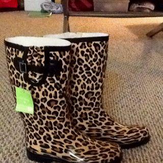 Cheetah rain boots from cvs :)
