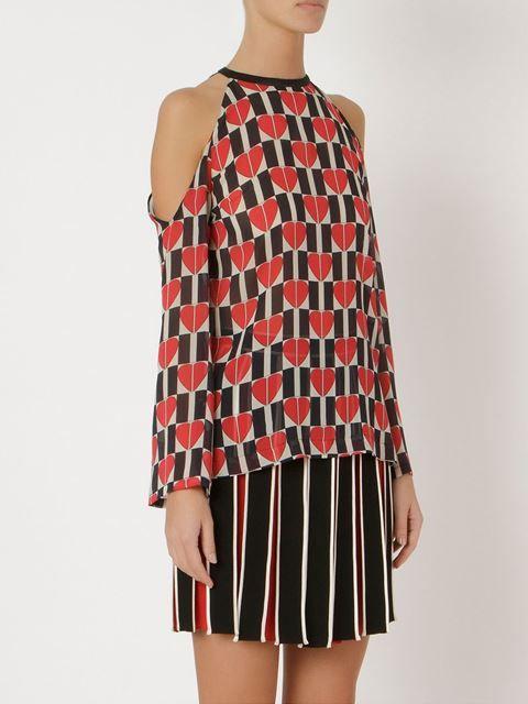 PRÉ-VENDA - Blusa de seda estampada