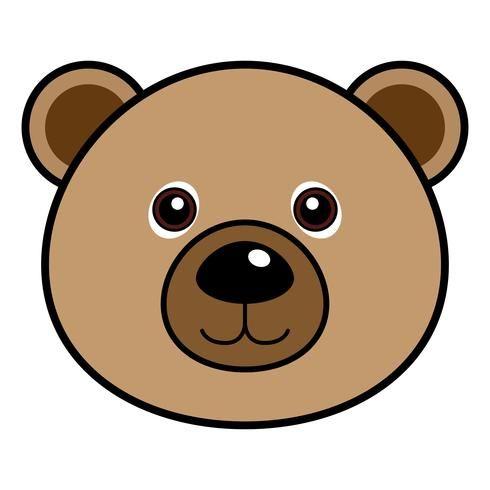 Vector Lindo Del Oso Teddy Bear Cartoon Bear Face Drawing Bear Cartoon
