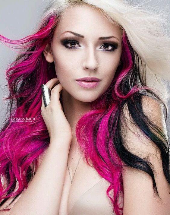 Terrific Hot Pink Brunette Brown Blonde Long Hair Super Pretty Hair Ideas Hairstyle Inspiration Daily Dogsangcom
