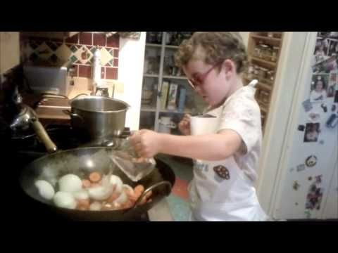 Cooking With Ezra : Great for kids who are interested in learning to cook with an expert--who also happens to be a kid:  Ginger Carrot Soup