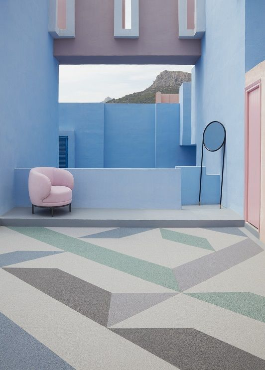 Inside Shapes Is A Simple Playful Toolkit Allowing The Freedom For Creative Expression To Be Designed Into Interior Carpet Tiles Blue Carpet Carpet Tiles Kids