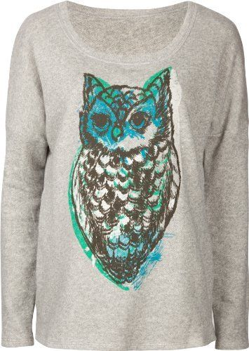 full tilt women's sweatshirts | View Full Tilt Oversized Owl Womens Sweatshirt at Women's Clothing ...