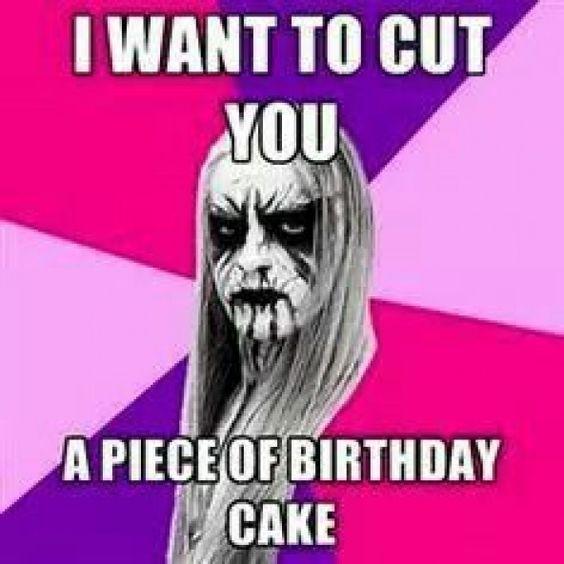 Happy Birthday Metalhead Musicgenres Music Genres Funny Cool Birthday Cards Metal Meme Happy Birthday Funny