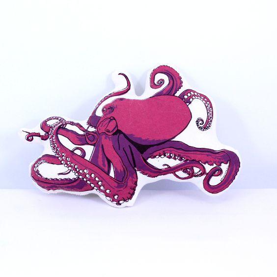 Plush Octopus Pillow & Toy