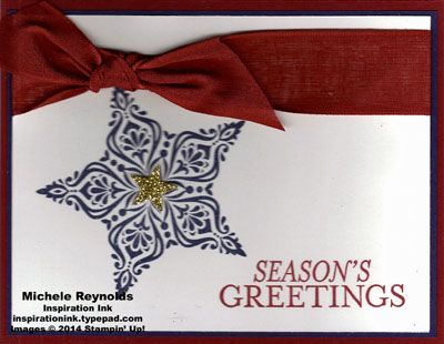 This is one of the cards we made today at our local retirement community.  For all the details, please visit my blog at http://inspirationink.typepad.com/inspiration-ink/2014/12/fairhaven-cards-bright-beautiful-and-santa-stache.html.  Thanks.