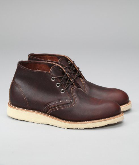Due to international licensing agreements we are not permitted to sell Red Wing products to customers located in Japan, Russia or the United States. Inspired by rugged work boot heritage, Red Wing's Work Chukkas are casual in appearance, but ruggedly handsome. Red Wing tells us they're the perfect shoe for looking busy while not doing anything. That's the kind of style we can appreciate.Width: D