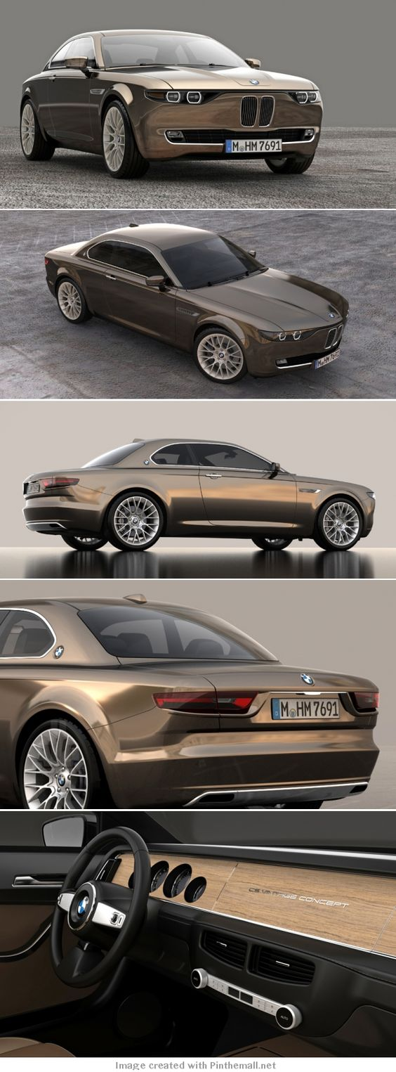 BMW CS vintage concept by david obendorfer pays tribute to 1968 E9 series... - a grouped images picture - Pin Them All