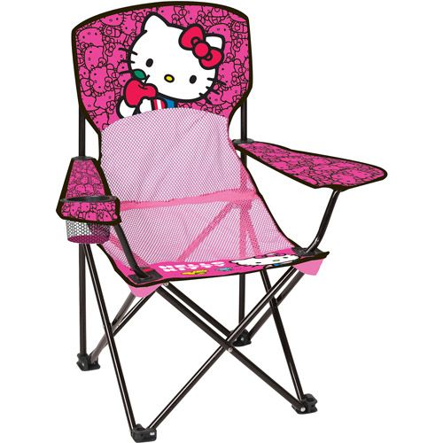 hello kitty mesh chair folding camp chair kids camping chair it needs to be an adult size too hello kitty pinterest kids camping chairs