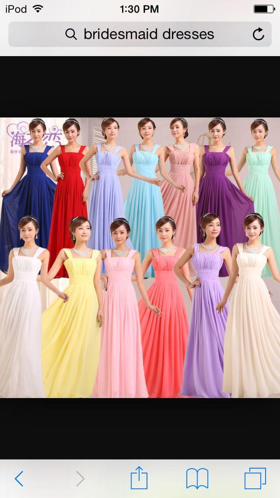 Bridesmaids dresses | Wedding ideas | Pinterest | Vestidos, Vestidos ...