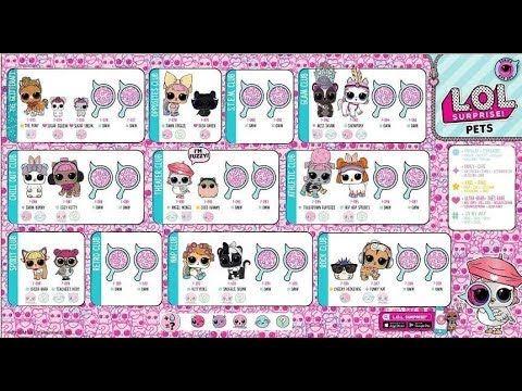 Lol Surprise Pets Eye Spy Series 4 Kids Printable Coloring Pages Lol Dolls Lol