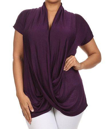 Another great find on #zulily! Purple Surplice Top - Plus #zulilyfinds