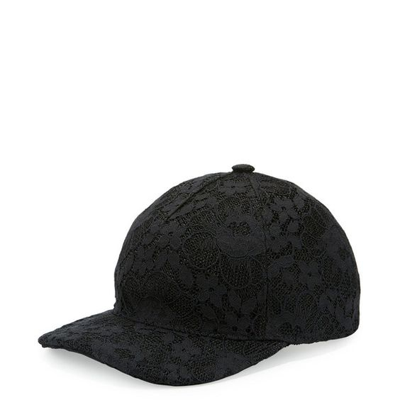 Gucci Floral Lace Baseball Cap ($345) ❤ liked on Polyvore featuring accessories, hats, black, adjustable baseball hats, adjustable hats, gucci hat, lace baseball cap and floral crowns