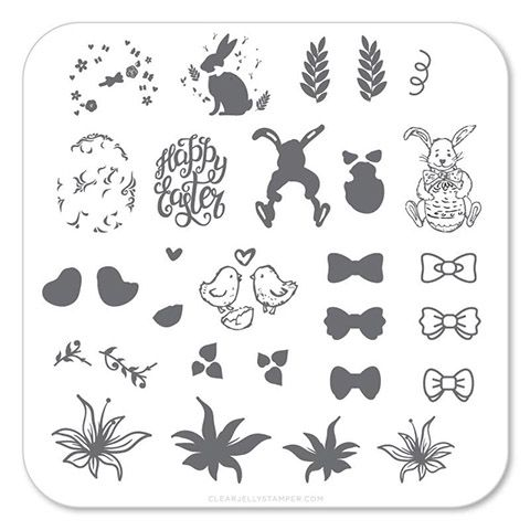 Clear Jelly Stamper- Bitty Bunnies 'n Blooms (CjSH-10)