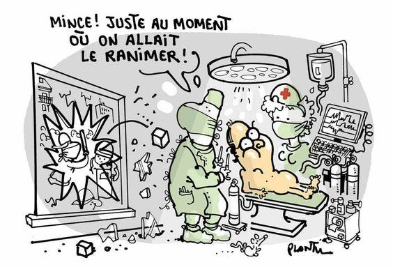 Plantu (2016-06-16) France: HÔPITAL NECKER. Le dessin du Monde de ce jeudi 16 juin.