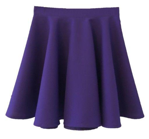 Fioletowa Neonowa Spodniczka Gigi Rozkloszowana Fashion Skater Skirt Skirts