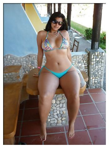 Super Wide Hips Small Waist Indian Woman Bikini Big