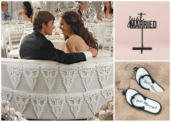 Just Married Wedding Favors and Accessories from HotRef