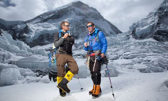 The First Ascent West Ridge team. (Pictured: Jake Norton and Brent Bishop.) #Everest