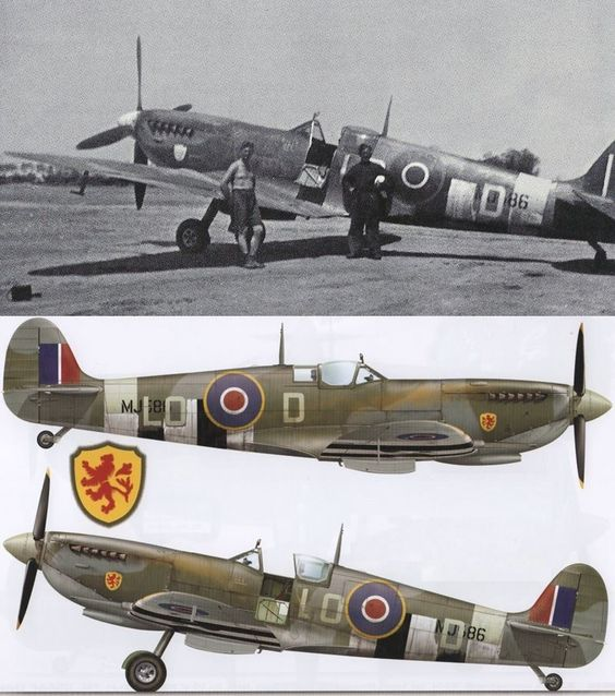 Pierre Clostermann Spitfire MK IX June 1944