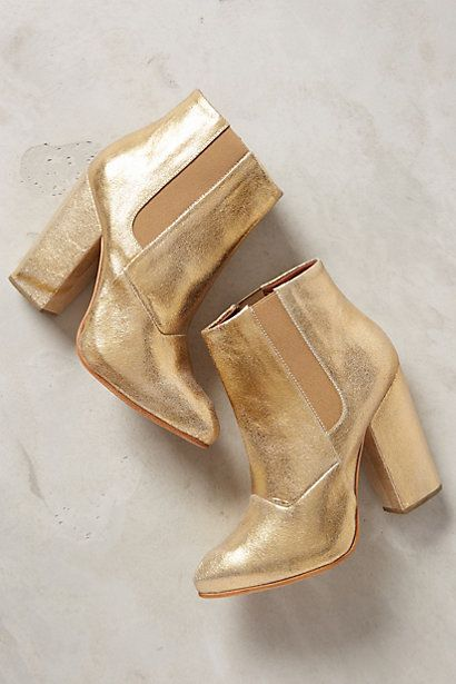 Rachel Comey gold boots #anthrofave