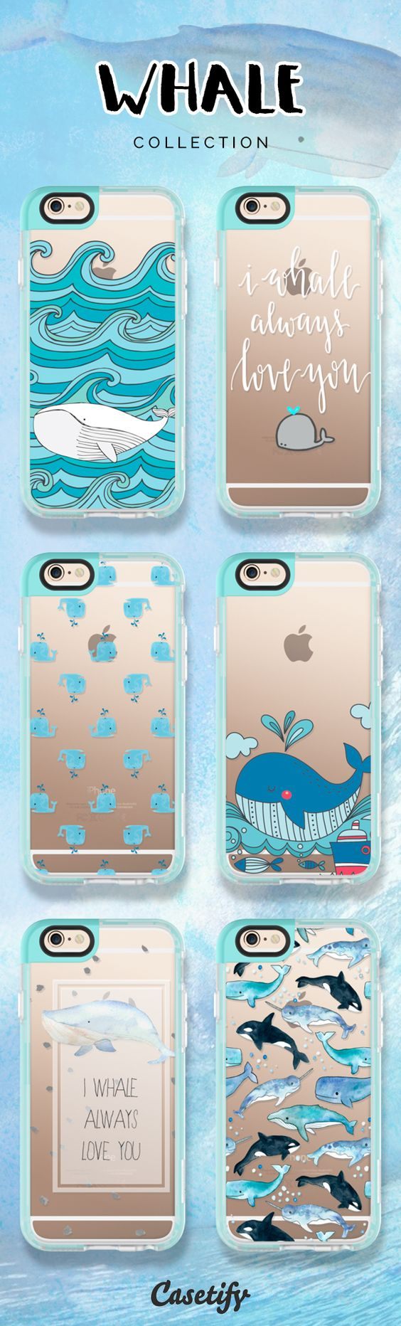 I whale always love you. Click through to shop these #whale iPhone 6/6S #Protective Case designs >>> https://www.casetify.com/artworks/19JvgNzgRI #phonecase | @casetify