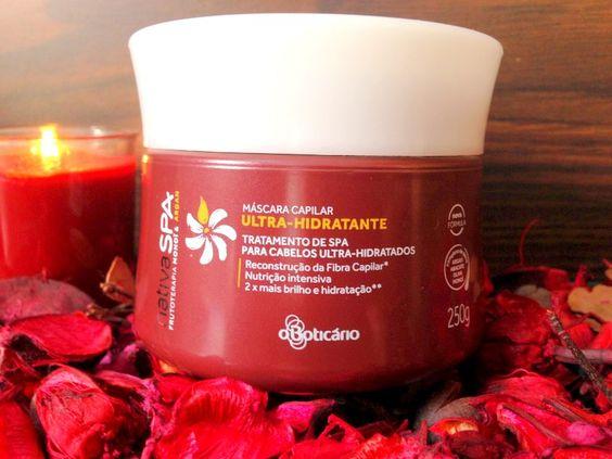 Nutrição - Mascara - Monoi e Argan - Natica SPA - Boticário