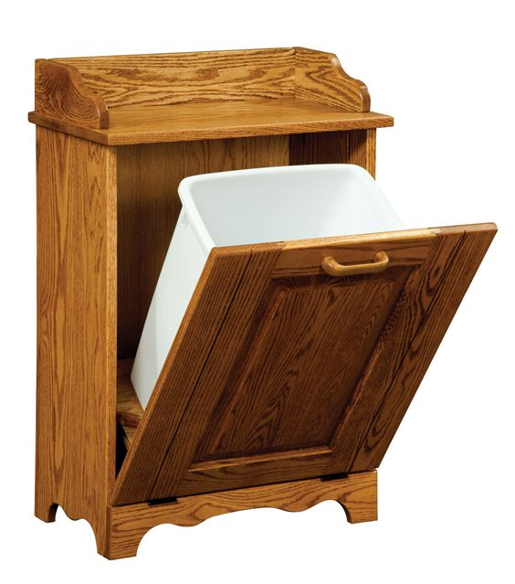 Tilt out dog food bin built in standard tilt out trash bin amish furniture factory build - Amish tilt out trash bin ...