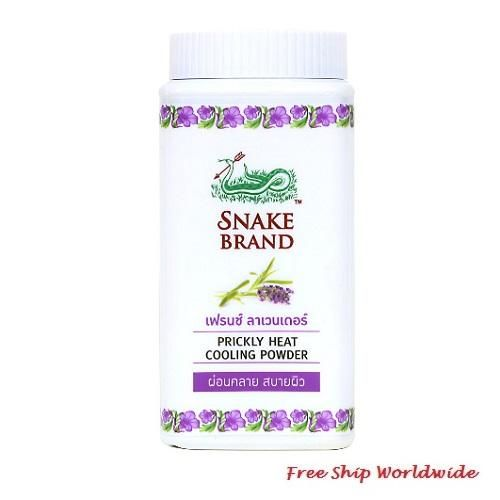 Prickly Heat Cooling Powder Snake Brand French Lavender 50g