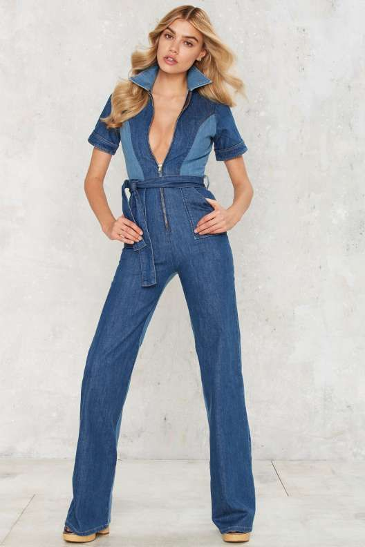 7f71f4a09da7 Stoned Immaculate Blue Jean Baby Denim Jumpsuit - Rompers + ...