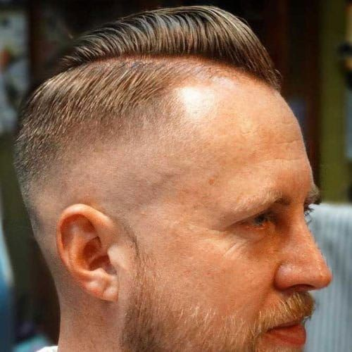 Thin Hair Comb Over Pomp Skin Fade Beard Mens Hairstyles Thin Hair Thin Hair Men Hairstyles For Thin Hair