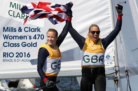 Great Britain's Hannah Mills and Saskia Clark have won gold in the women's 470 sailing event at the 2016 Rio Olympics.  The pair, silver medallists at the 2012 Olympics in London, only needed to finish the medal race on Thursday to win gold, and came in eighth.