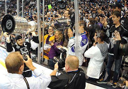 LA's new royalty...Stanley Cup winner's the Los Angeles Kings