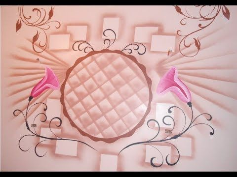 رسم استنسل مع تنجيد بنى Youtube Art Decor Home Decor
