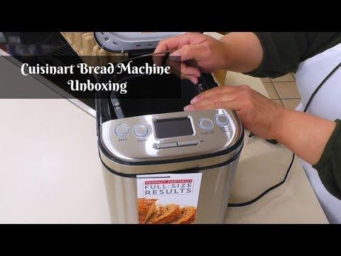 Cuisinart Bread Machine Unboxing Bmkr 220pc Bread Maker What S Up Wednesday Amy Learns To Cook Cuisinart Bread Machine Recipe Bread Machine Learn To Cook