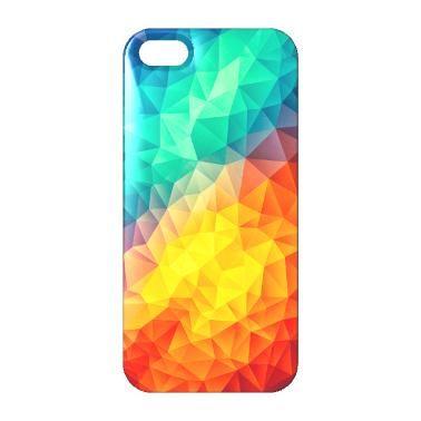 Super farbenfrohes Handycover ideal für modebewusste Trendsetter. Abstraktes Dreieck Kunstwerk für dein Handy.Minimales Zeitloses Geometrie in Knalligem Farben ein Muster für und Sommer