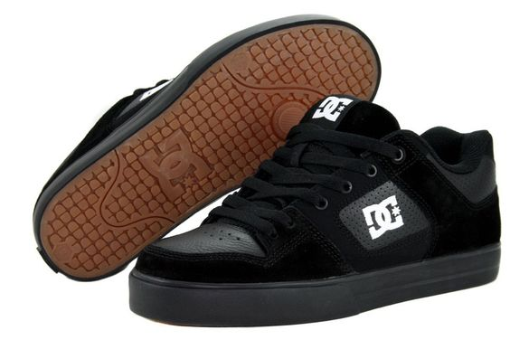 DC MEN'S PURE BLACK STREET WEAR 300660-CBN - http://www.gogokicks.com/