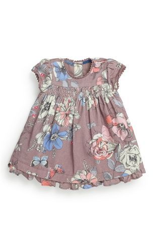 Buy Mink Floral Cord Dress, Pink Cardigan And Tights Three Piece Set (0-18mths) from the Next UK online shop