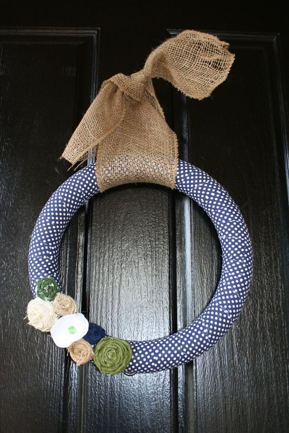 Green and blue wreath