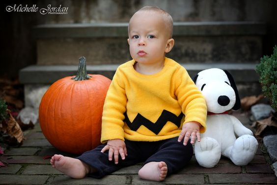 MICHELLE JORDAN Photography » Baby Charlie Brown Halloween Costume  #charliebrown #halloween #babycharliebrown