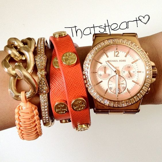 .@Heart D.   Today's accessories: @helloberryinc @JewelMint @Tory Burch @Michael Kors #armcandy   Webstagram