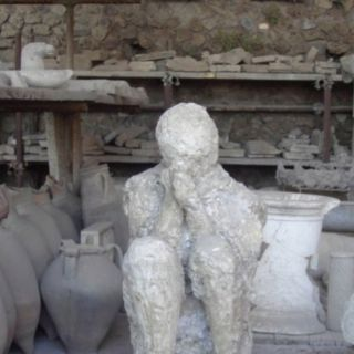 Pompeii...been there, and was speechless when I saw this plaster cast.