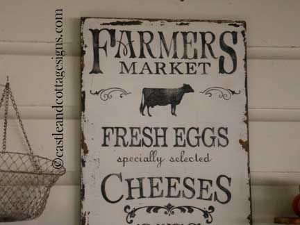 vintage signs | Vintage Farmers Market Sign