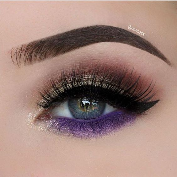 Gorgeous eye makeup dripbow in ash brown