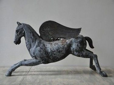 French 19C zinc horse.... beautiful