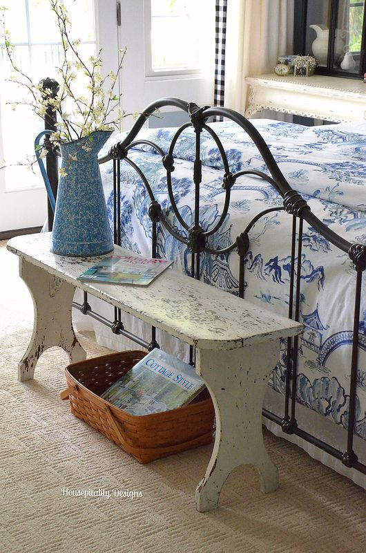 Housepitality Designs: Vintage Bench-Guest Room/Housepitality Designs