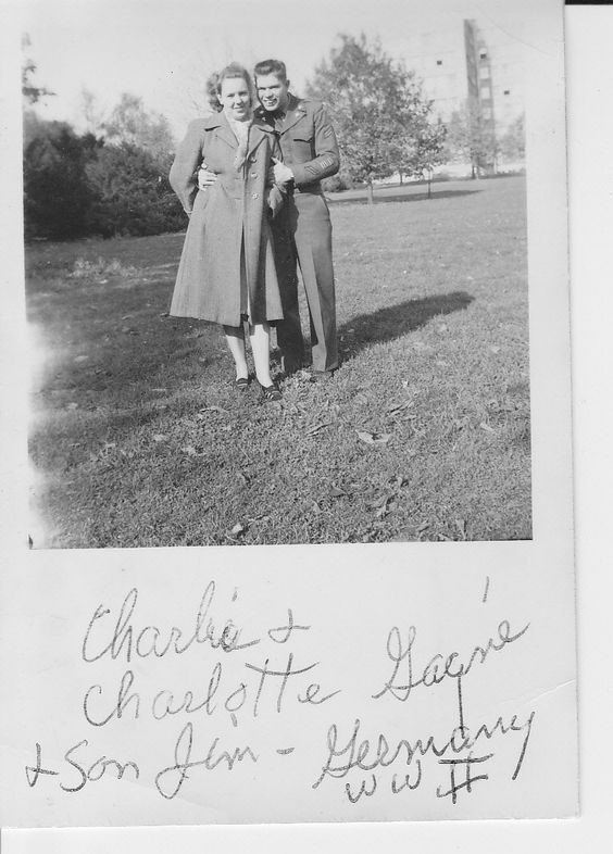 Charlotte (Fuller) Gagne and Charlie Gagne, in Germany, and in love.