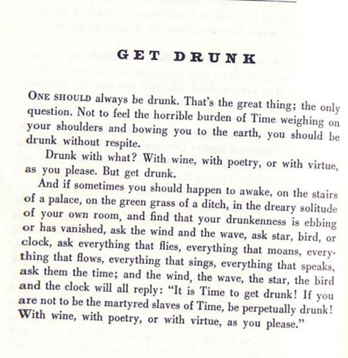 with wine, with poetry, or with virtue.